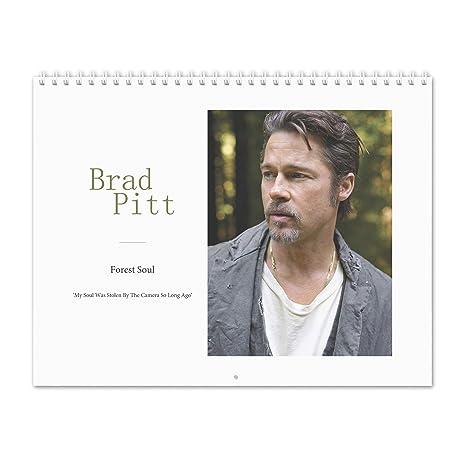 Pitt 2019 Calendar Amazon.: Brad Pitt   Forest Soul 2019 Wall Calendar : Office