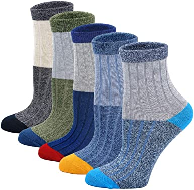 Thick Cotton Socks Kids Winter Warm Socks 5 Pack For Boys And Girls