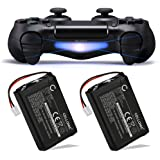 Cellonic 2x Batterie premium pour Sony PS4 Dualshock 4, PlayStation 4 Controller (1300mAh) LIP1522 Batterie de recharge, Accu remplacement