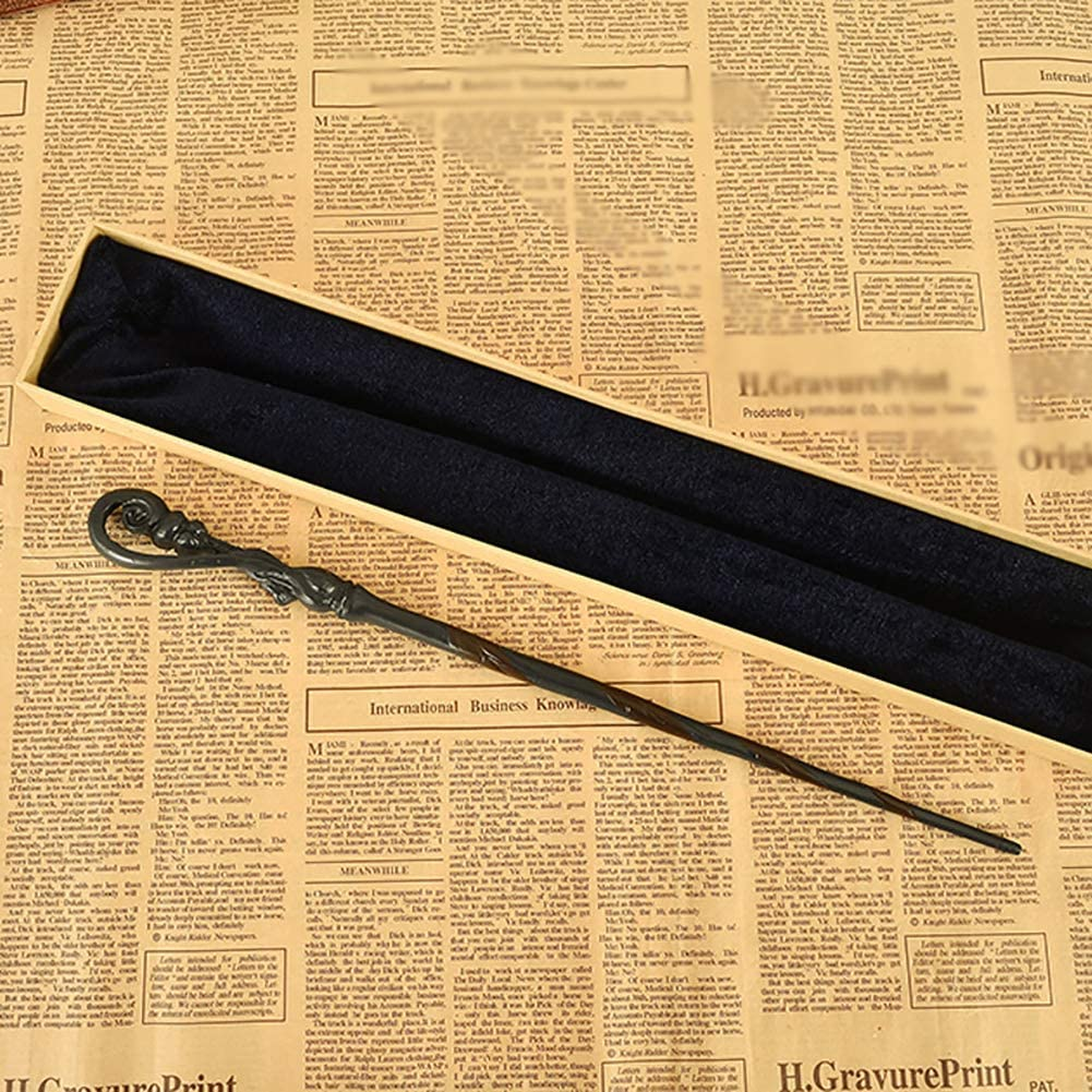 DAQAXGAO Cosplay Props Fleur Isabelle Delacour Zauberstab Harry Potter-Serie Metallkernstab Rod Geburtstagsgeschenke Queenie Wizard Trainingsstab,Purple Box,36cm