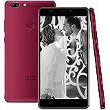 Elephone C1 Max LTE 4G Smartphone Android 7.0 ( 6.0'' IPS HD Schermo, Dual SIM Telefono Cellulari, 2GB RAM 32GB ROM, MTK6737 Quad Core 1.3GHz, 13MP+5MP Camera, Fingerprint, WiFi, GPS, OTG) - Vino rosso