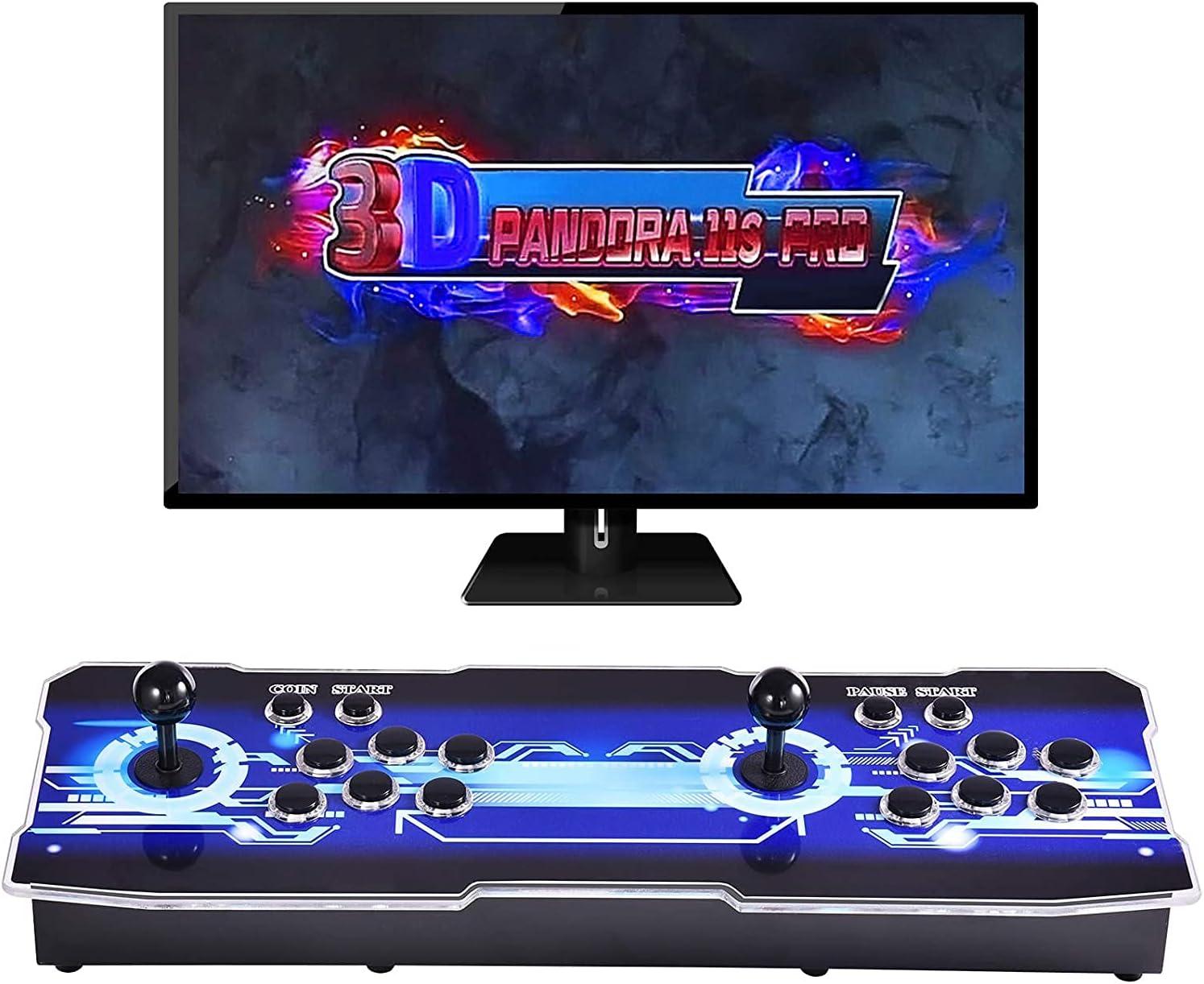 OneV FT [3333 Juegos en 1] Actualización de la consola de juegos Arcade WiFi Full HD Retro-Video Consola de juegos Arcade 2 jugadores 3D Pandora Box con 3333 Juegos Retro para PC/portátil/TV/PS3