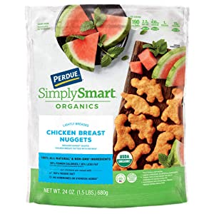 Perdue Simply Smart Organics Lightly Breaded Chicken Nuggets, 24 oz. (Frozen)