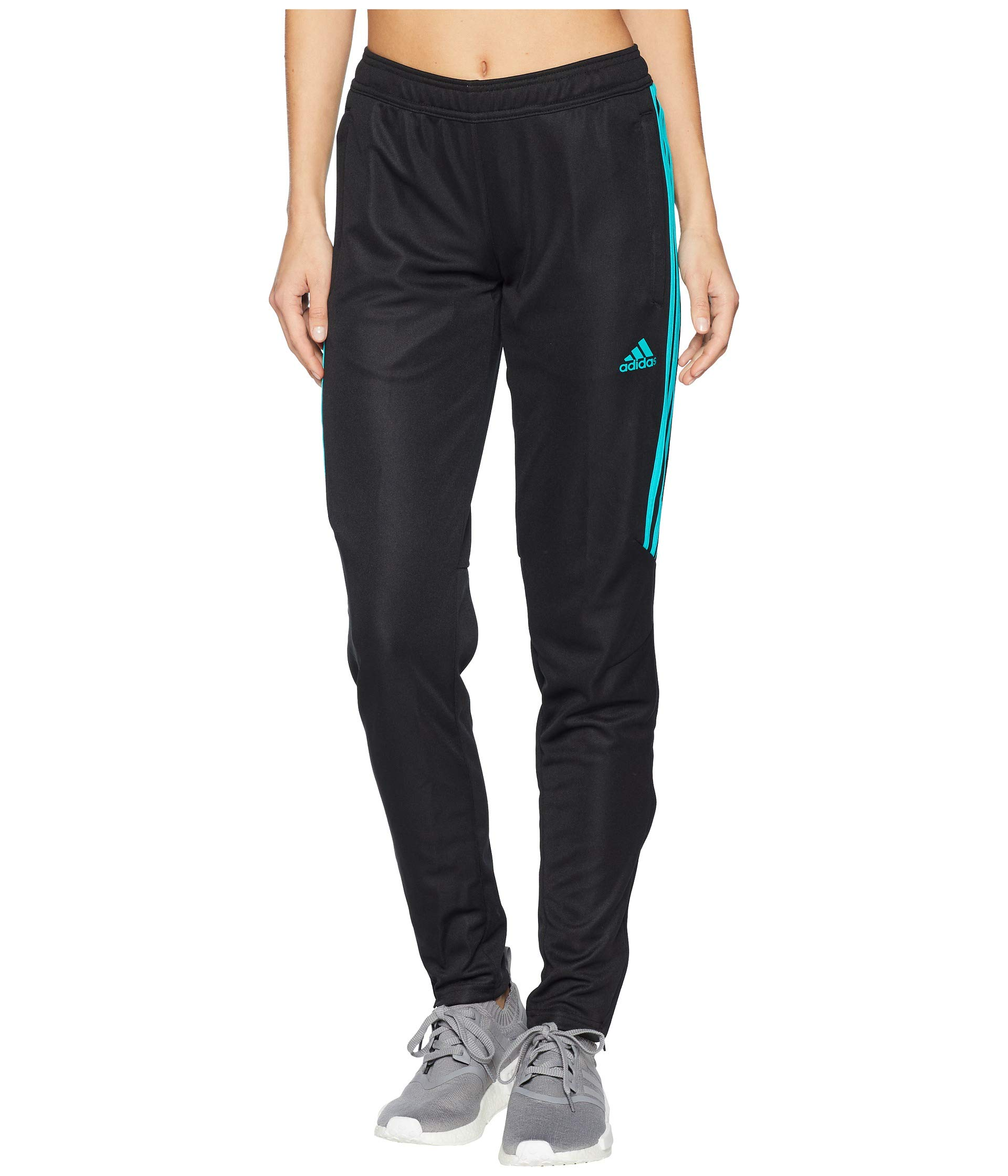 adidas Women's Tiro '17 Pants Black/Hi-Res Aqua X-Large 32 by adidas
