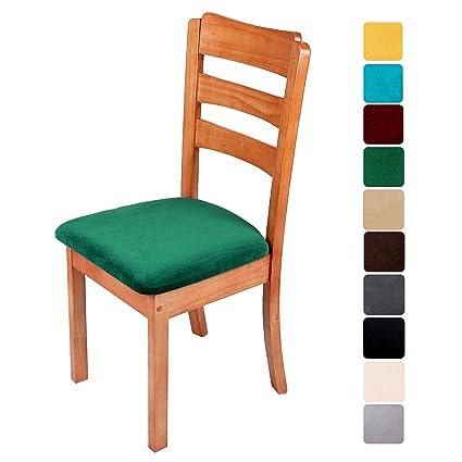 Lot de 4 Couvres chaise salle à manger Couvre Amovible stretch Siège Housse De Protection