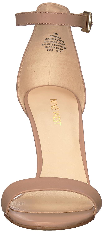 Amazon.com   Nine West Women s Mana Leather Heeled Sandal   Heeled Sandals e5d059a09b