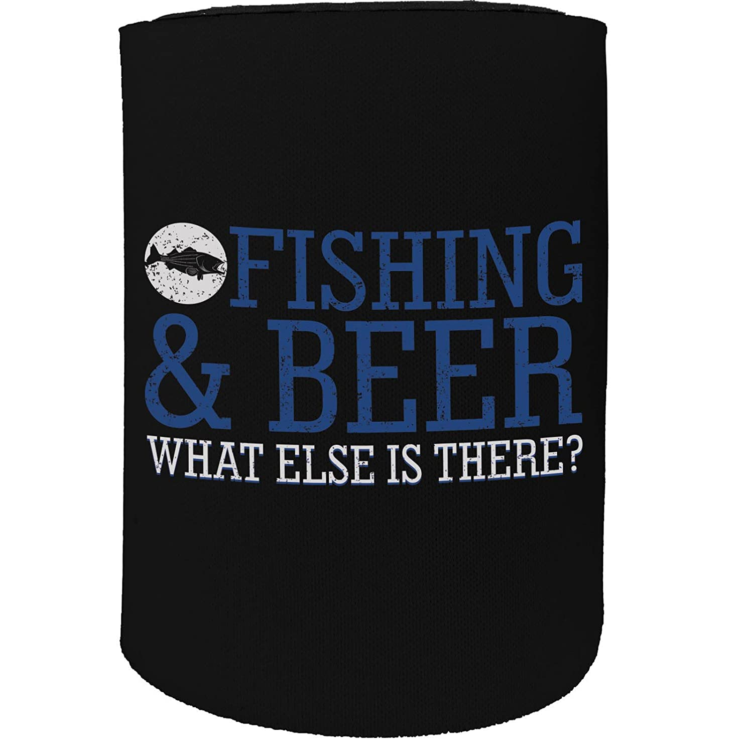 123t Stubby Holder - Fishing Beer Fish - Funny Novelty Birthday Gift Joke Beer Can Bottle Coolie Koozie Stubbie