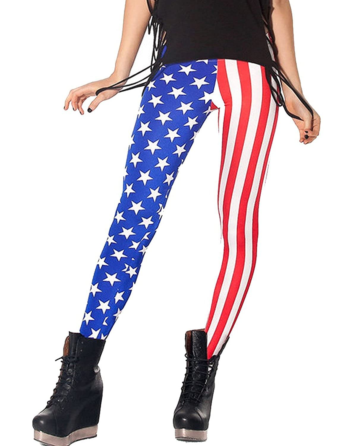 American Trends Women's Fashion Pattern Leggings Colorful Stretch Tight Pants ACAS0122L01FS
