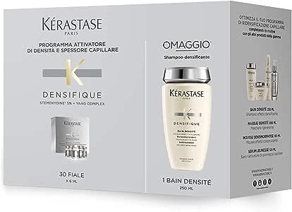 Kerastase Densifique Soin Cuir Chevelu 30 X, 30 Count & Kerastase Bain Densite Bodifying Shampoo 8.5 Ounce