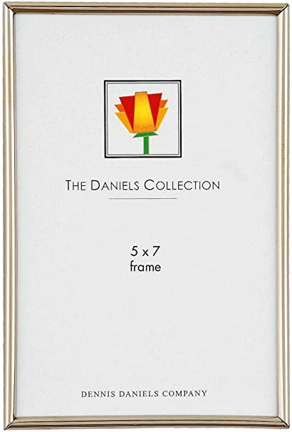 Dennis Daniels Narrow Channeled Picture Frame, 5 x 7 Inches, Brass