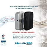 "PollenTec – Hypoallergenic Box Fan Filter – Filters 98% of Airborne Pollen, Dust, Mold Spores, Pet Dander - WASHABLE - Allergy Research Certified - MADE IN USA - 20.5"" x 20.5"""