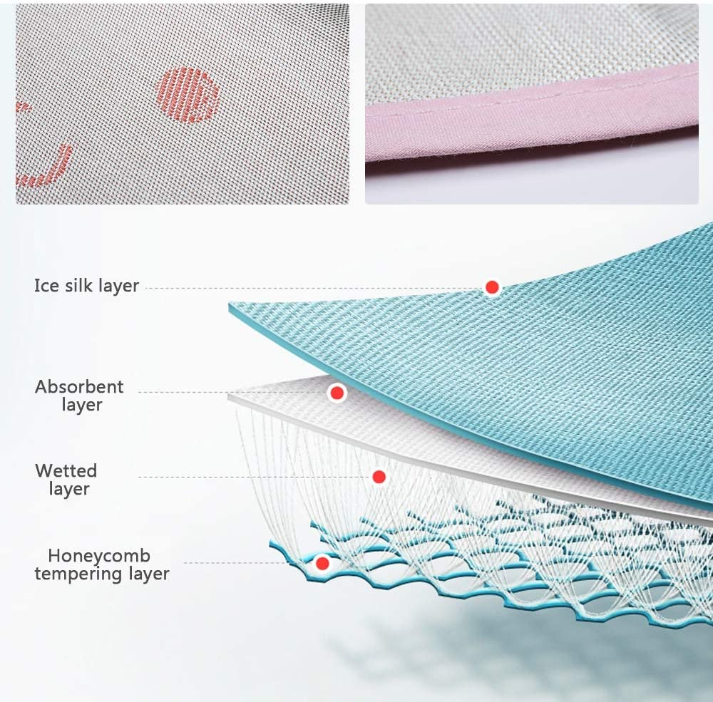 Ice Silk Seat Pad Liner for Baby Stroller and Car Seat Blue Yeakoo Baby Summer Stroller Car Seat Liner Baby Stroller Cooling Seat Pad Breathable Child Safety Cart Mat Ice Silk Cushion Non-Toxic Safe for Kids