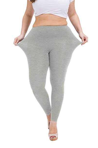 a6fc5efa1b321 Image Unavailable. Image not available for. Color  VOGUEMAX Women s Full  Ankle Length Leggings Plus Size Cotton Stretchy Leggings