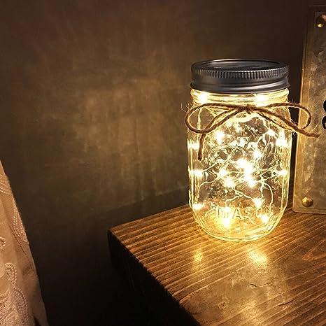 60129722854 Solar Mason Jar Luz