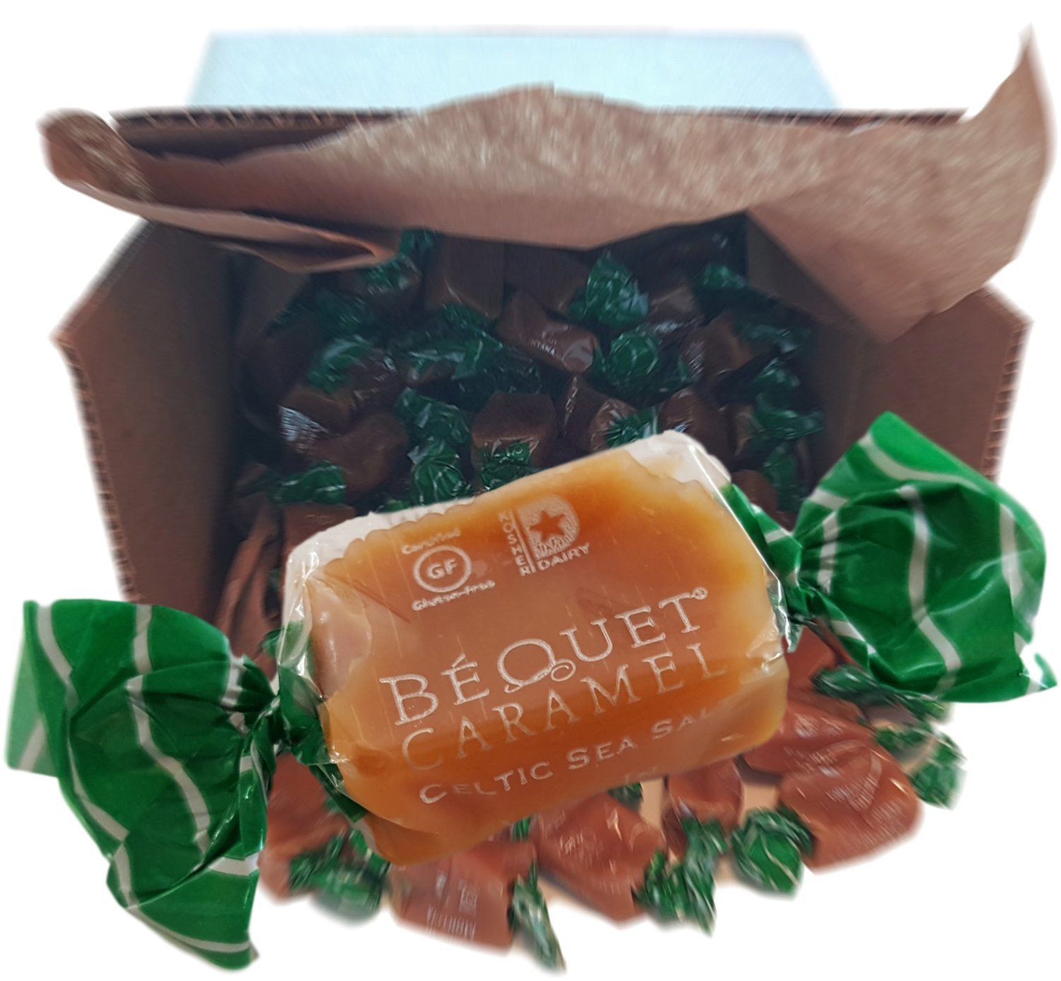 Bequet Gourmet Caramel - Big Box of Celtic Sea Salt Caramels - Hand Crafted, Slow Simmered