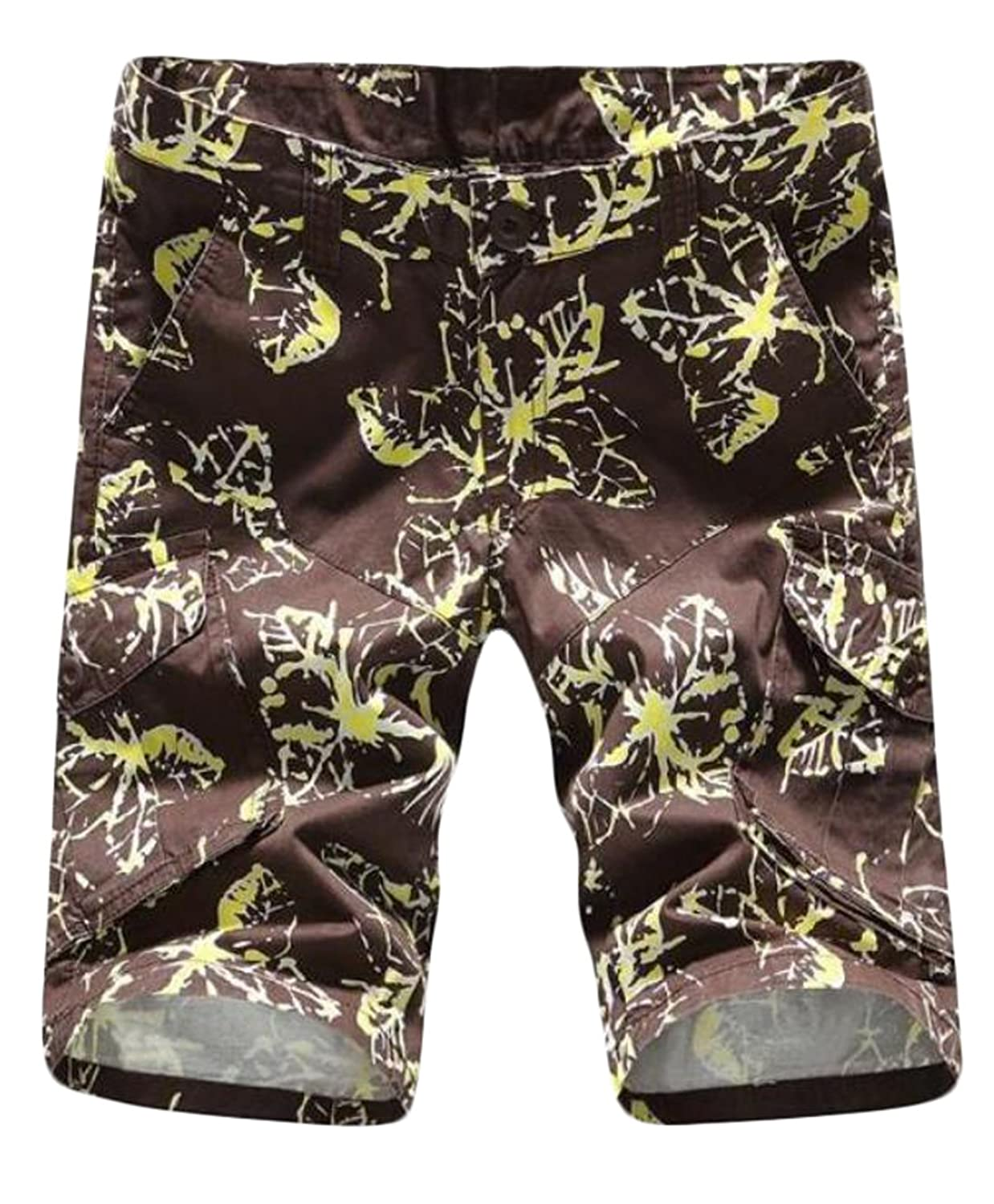 pretty nice 7e328 28074 Jaycargogo Men s Print Summer Multi-Pocket Beach Shorts Pants best