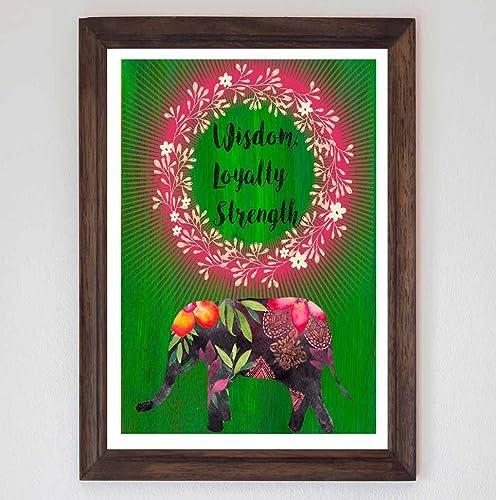Amazon Fine Art Print Beautiful Poster Depicting An Elephant