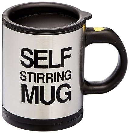 bbe01400d9e OliaDesign 1325.7726.71 Forum Novelties Self Stiring Mug, Silver, Black