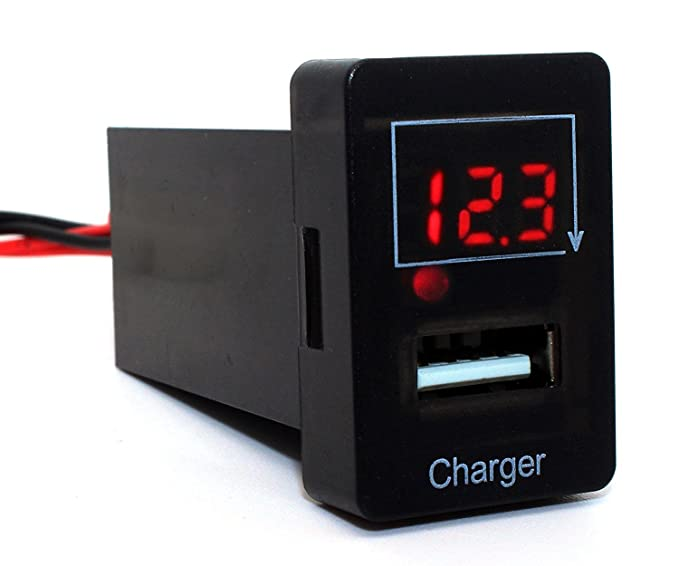 amazon com cllena toyota usb charger voltmeter tester 1 9ft rh amazon com wiring diagram usb charger wiring usb charger