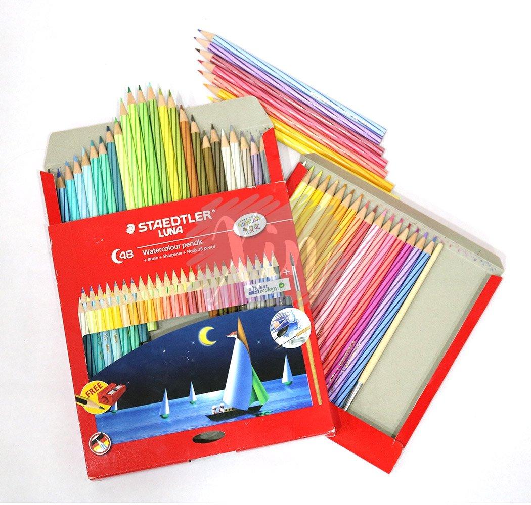 Staedtler Luna 24 Watercoloured Pensils Pensil Warna Daftar Harga Aquarell Watercolour Pencils 137 C36 Watercolor Pencil Pack Of 12 Amazonin Office Products