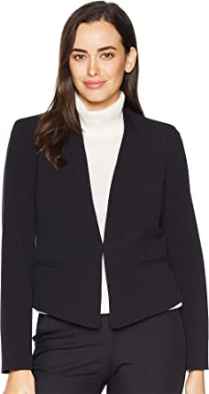 7db4a102260 Nine West Womens Stretch Kiss Front Jacket at Amazon Women's Clothing store: