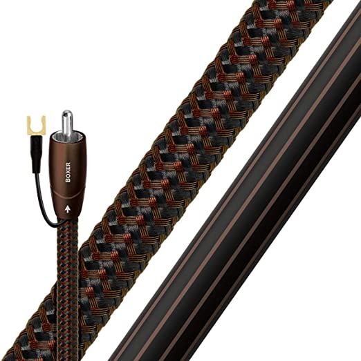 AudioQuest 2m Boxer RCA cable de audio Negro - Cables de audio (RCA, RCA, 2 m, Negro)