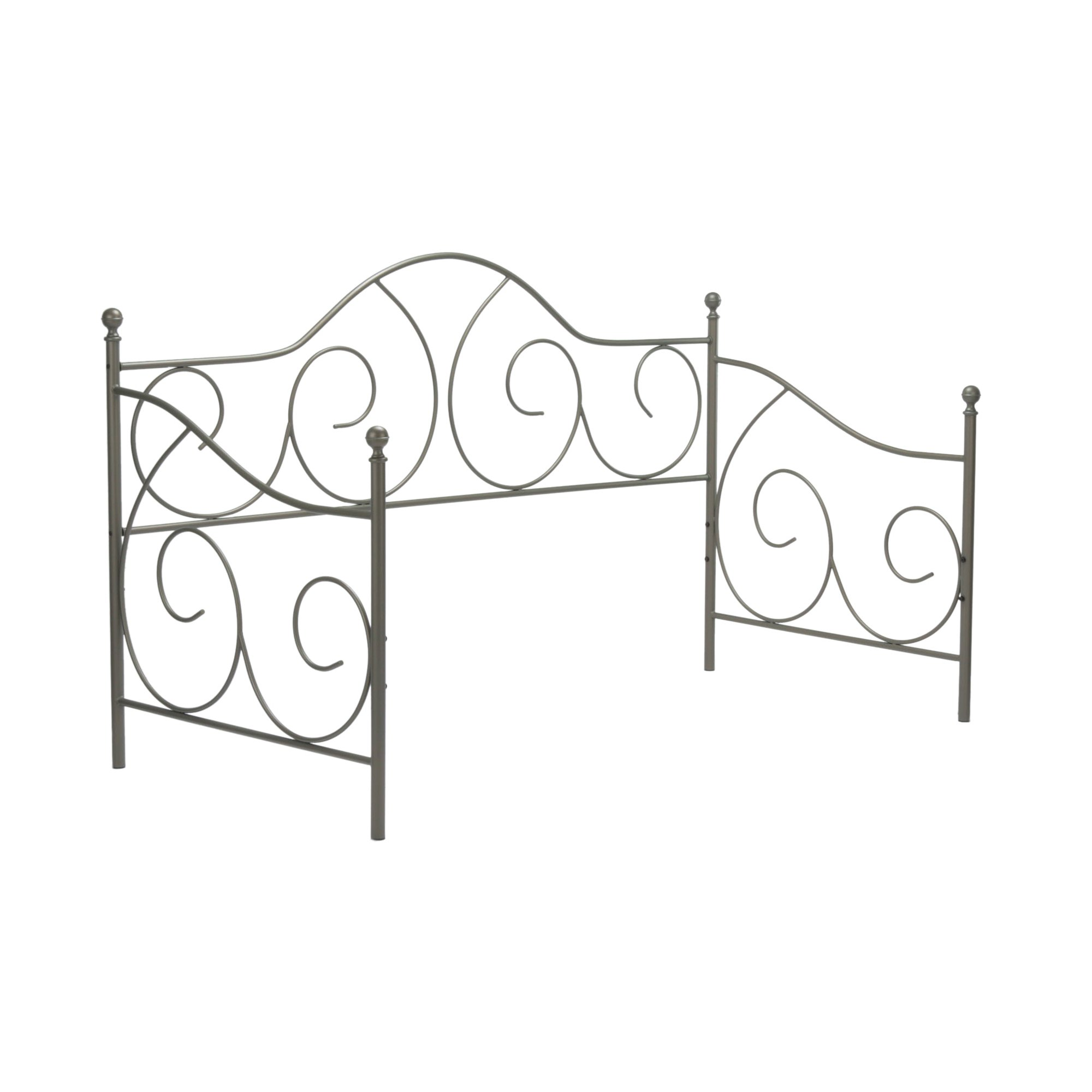 Caroline Complete Metal Daybed with Link Spring and Trundle Bed Pop-Up Frame, Flint Finish, Twin by Adjustables by Leggett & Platt (Image #4)