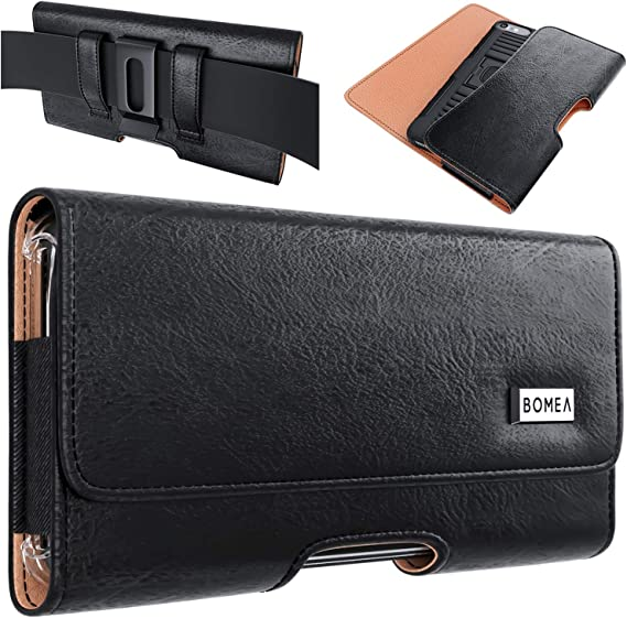 PiTau Holster Designed for iPhone 12, 12 Pro, 11, iPhone XR, Cell Phone Belt Case with Belt Clip Loops Belt Holder Pouch Cover Compatible with iPhone 12/12 Pro/XR with Otterbox Commuter Case on