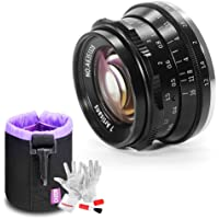 7artisans 35mm F1.2 Large Aperture Prime APS-C Aluminum Lens for Fuji X Mount Mirrorless Cameras X-A1 X-A10 X-A2 X-A3 X…