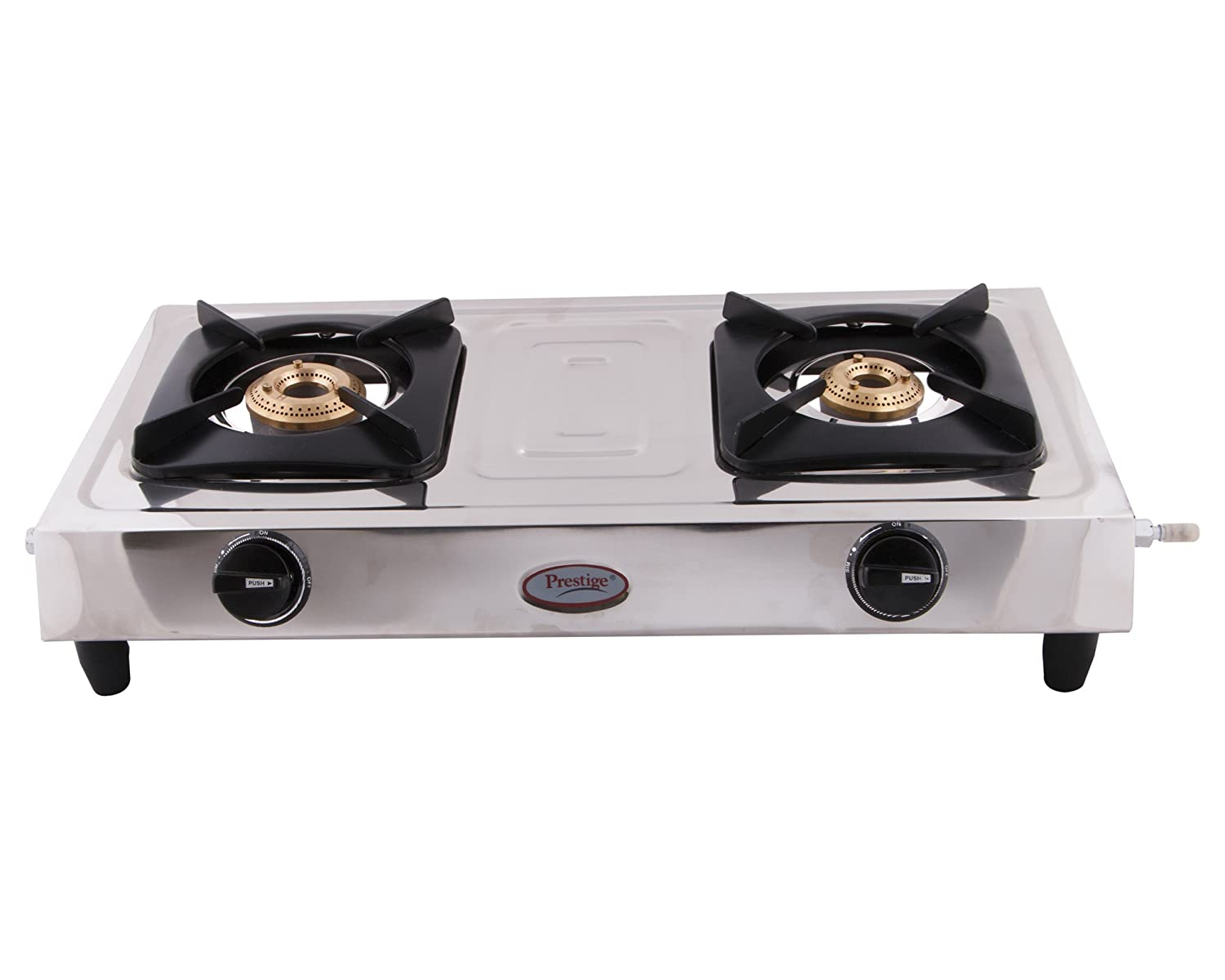 buy prestige star stainless steel 2 burner gas stove metallic silver online at low prices in india amazonin