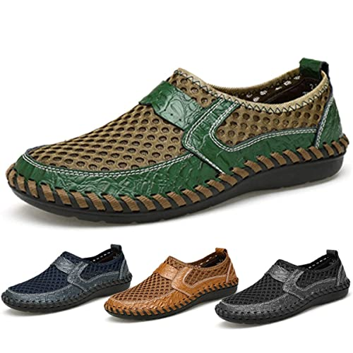 ef07777813f gracosy Mesh Casual Shoes, Summer Men's Wateproof Breathable Walking Loafers  Slip-on Shoes,