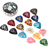 Donner® Púa de guitarra/bass (bajo), pack de 16 unidades, 4 grosores, 8 colores lindos