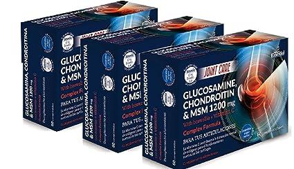 Glucosamina, Condroitina y Msm - 60 Cápsulas (Pack 3 u ...