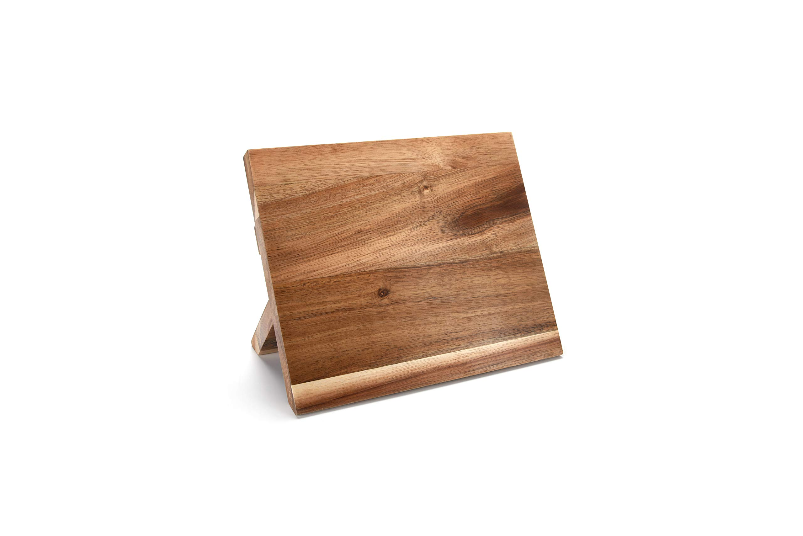 Acacia Magnetic Knife Stand and knife organizer includes honing tool and knife sharpener - premium knife block made from natural acacia wood for displaying your kitchen knives - by Bregonia by Danby