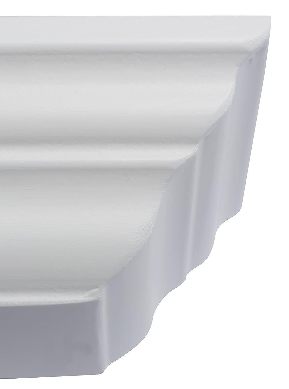 B!Organised blanco 1191496 1 pieza Fetim Elegante estante de pared flotante