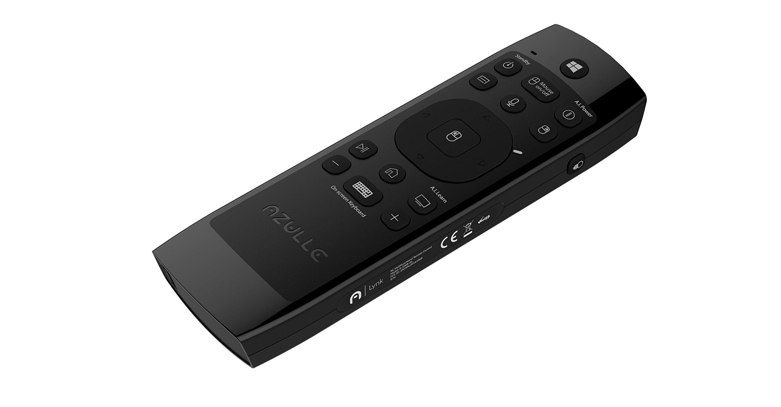Azulle Lynk Multifunctional Remote Control – Universal Wireless Mouse Touchpad, Windows Keyboard, Backlit, Microphone