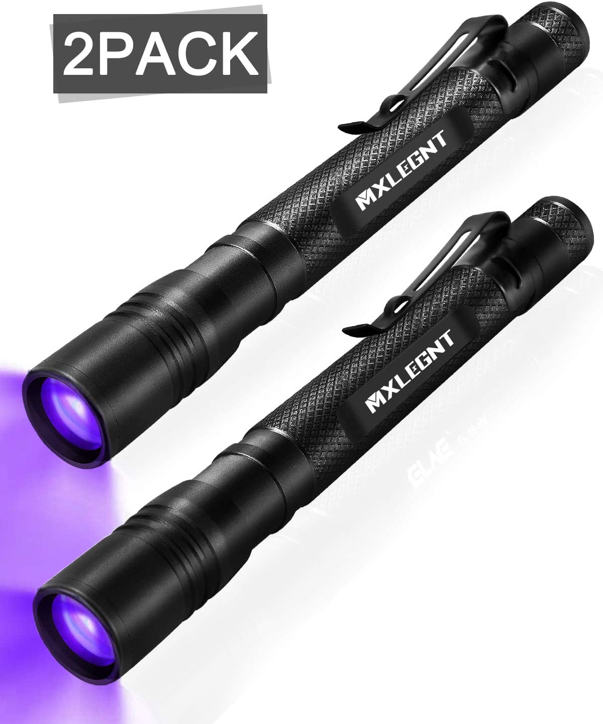 and Dye Detector Scorpion Stain Pet Urine LED UV Torch Mini Blacklight Ultraviolet Pen Lights for Leak and Hotel Inspection Bed Bug UV Black Light Flashlight 2 Pack