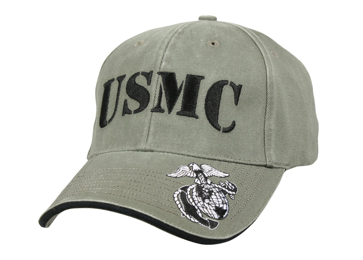 Amazon.com  Rothco Deluxe Vintage USMC Embroidered Low Pro Cap Olive Drab   Sports   Outdoors 3fdf9fd5263