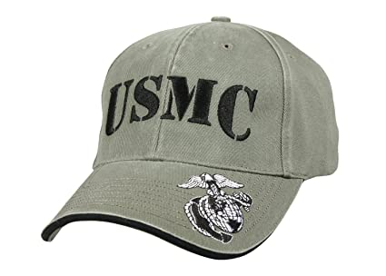 Rothco Deluxe Vintage USMC Embroidered Low Pro Cap Olive Drab