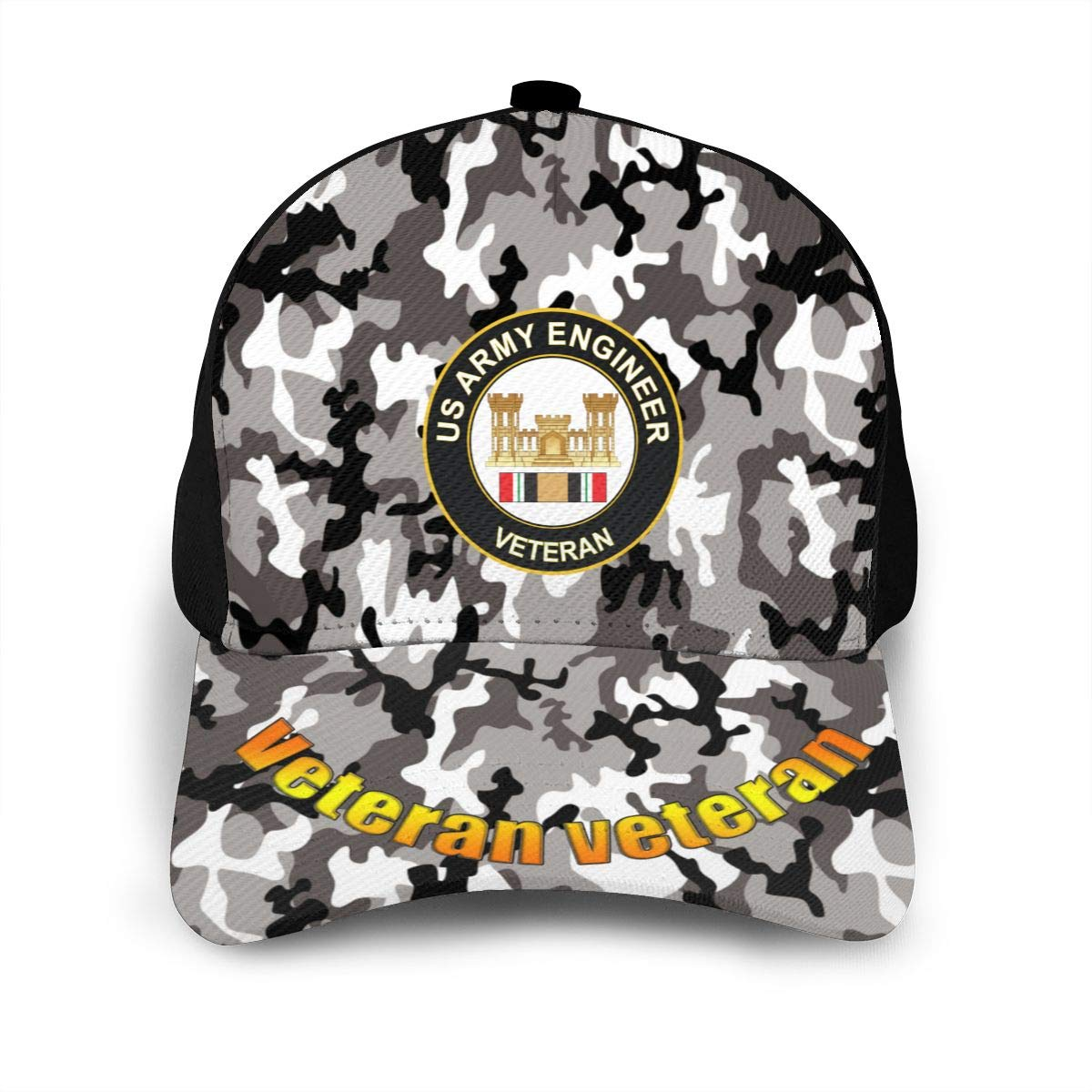 Army Engineer Iraq Veteran Classic Adult Caps Printing Bend Along Baseball Hats Snapback Men Women Hats Adjustable
