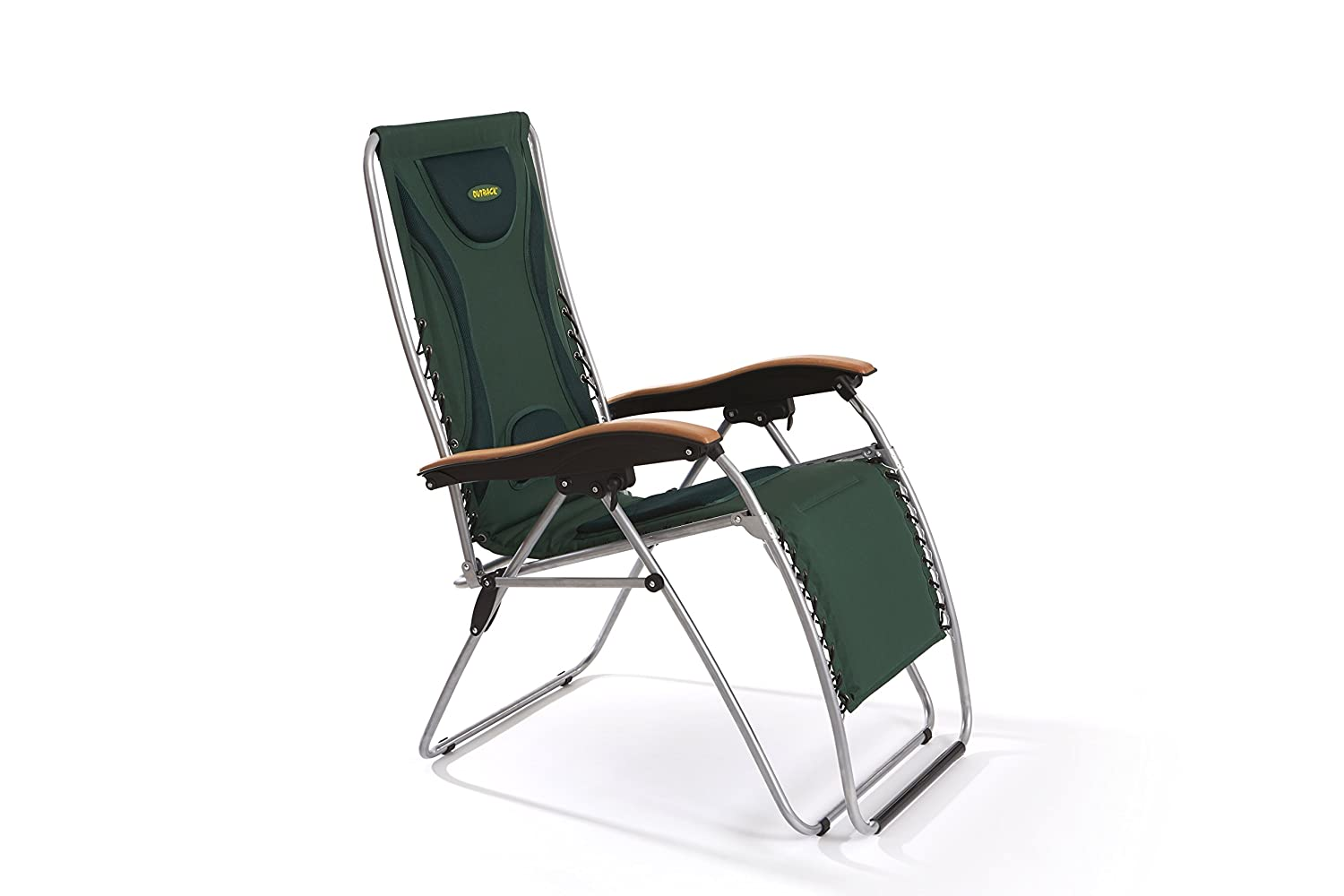 Outback padded relaxer extra reclining garden camping chair amazon co uk sports outdoors