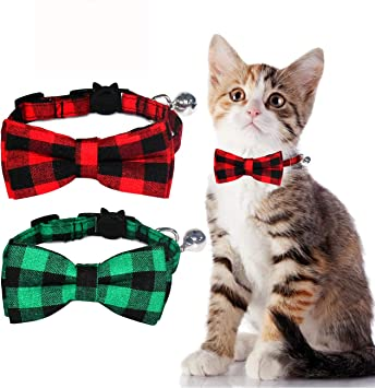 Lovely Cat//Dog Pet Cute Bow Tie With Bell Adjustable Puppy Kitten Necktie Collar