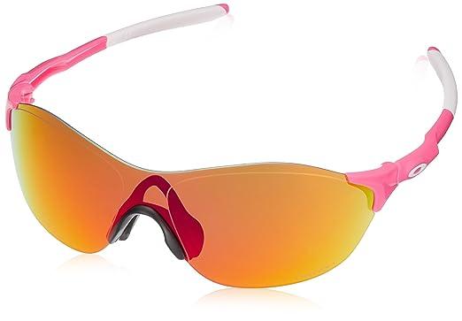 d4d4c17e9cb3 Oakley Men's Evzero Swift (a) Iridium Rectangular Sunglasses NEON PINK 38 mm