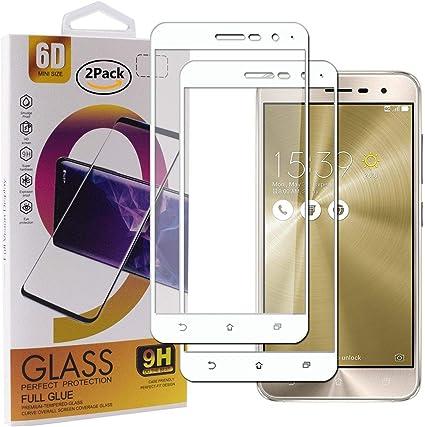 Guran [2 Paquete Protector de Pantalla para ASUS Zenfone 3 ZE520KL Smartphone Cobertura Completa Protección 9H Dureza Alta Definicion Vidrio Templado Película: Amazon.es: Electrónica