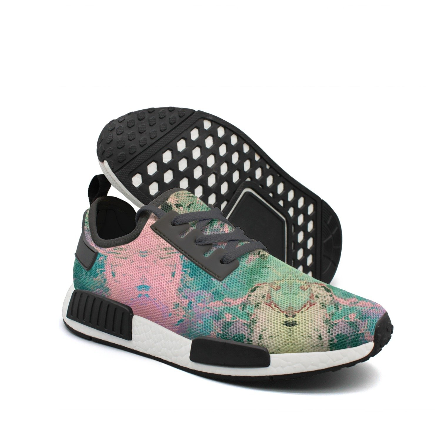 Men's Casual Fashion Sneaker Abstract Watercolor Art Breathable Lightweight Running Shoes