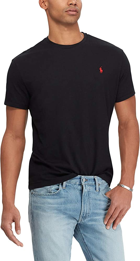 Ralph Lauren Camiseta Round Neck Custom Slim Fit (XXL, RL Black ...
