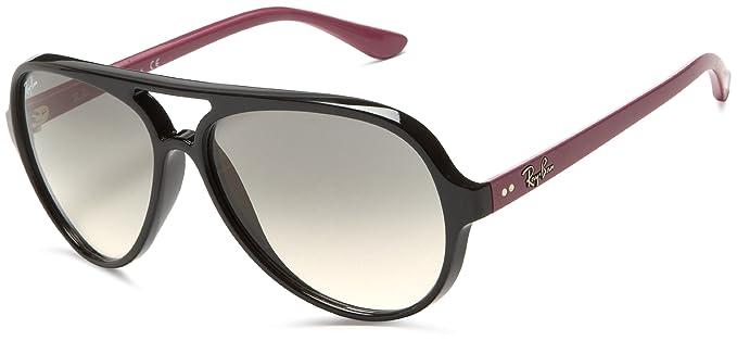 c57dd6589f109b ... official ray ban rb4125 cats 5000 shiny black frame grey gradient lens  plastic sunglasses 6193d 2c1c3