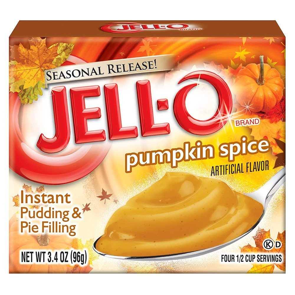 Kraft Jell-O Instant Pudding & Pie Filling, Pumpkin, 3.4-Ounce Boxes (Pack of 12)