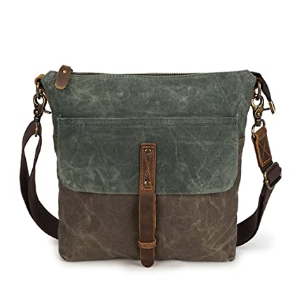 b99aeaba8 Men Oil Wax Canvas Shoulder Bag Fashion Vintage Men's Crossbody Bags  Waterproof Messenger Bag Design Army