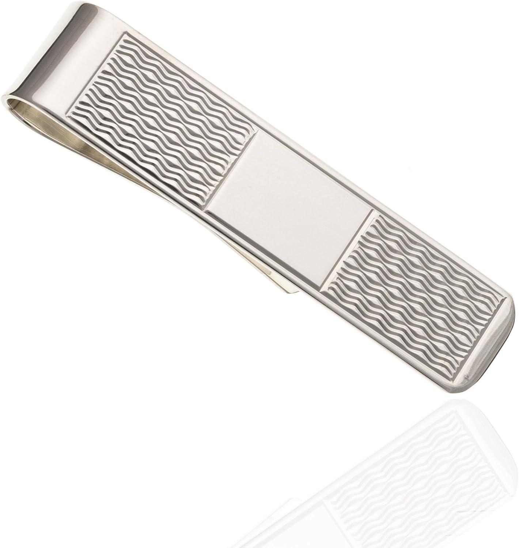 925/Sterling Silber Wave Cut Geld Clip.